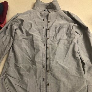 The north face women's grey button down shirt